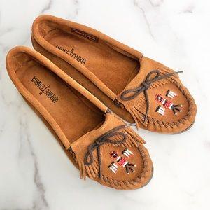 Minnetonka beaded moccasin loafers